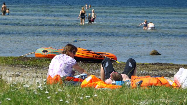 Nørrestænge Strand på Orø. Foto: Jesper von Staffeldt.