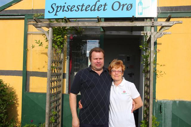 Birth og Clay driver den hyggelige restaurant Spisestedet Orø.  Foto: Jesper von Staffeldt.